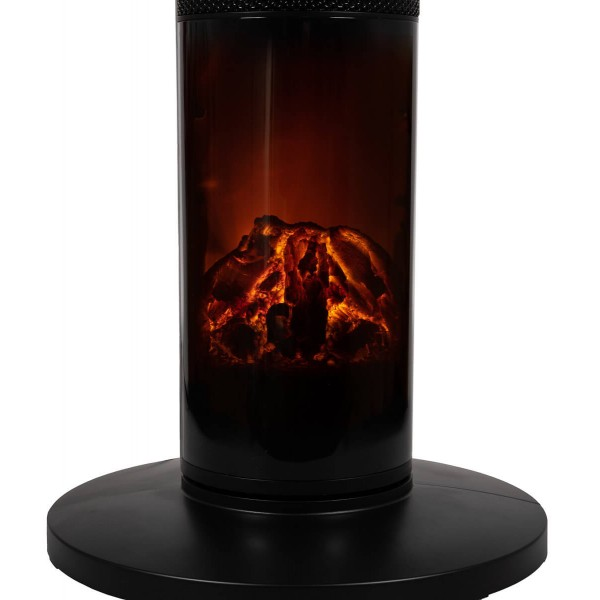 Τζάκι κεραμεικό με εικόνα φωτιάς